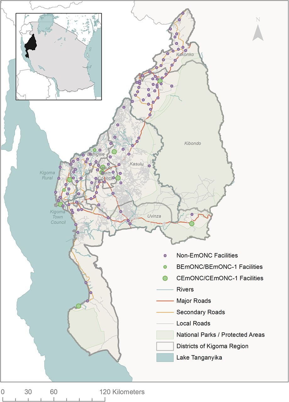 Geographic Access Modeling of Emergency Obstetric and
