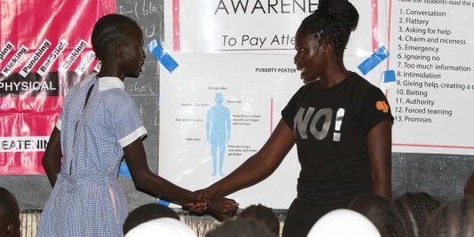 Self-defense class, Nairobi, Kenya