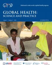 Global Health: Science and Practice: 1 (3)