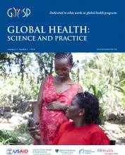 Global Health: Science and Practice: 2 (1)