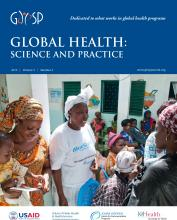 Global Health: Science and Practice: 3 (2)