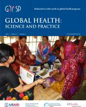 Global Health: Science and Practice: 3 (3)