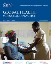 Global Health: Science and Practice: 3 (4)