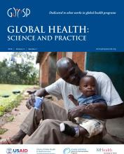 Global Health: Science and Practice: 4 (1)