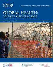 Global Health: Science and Practice: 4 (3)