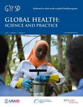 Global Health: Science and Practice: 4 (4)