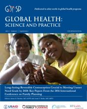 Global Health: Science and Practice: 4 (Supplement 2)
