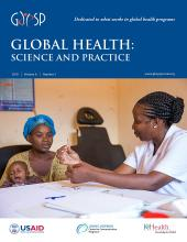 Global Health: Science and Practice: 6 (3)