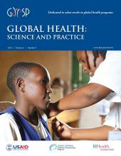 Global Health: Science and Practice: 6 (4)