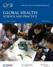 Global Health: Science and Practice: 7 (3)