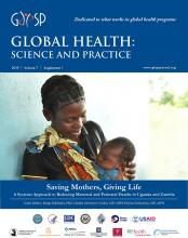 Global Health: Science and Practice: 7 (Supplement 1)
