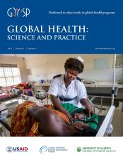 Global Health: Science and Practice: 9 (1)