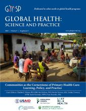 Global Health: Science and Practice: 9 (Supplement 1)